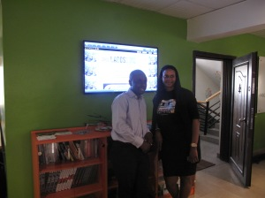 Tunji  Eleso (Co-founder CCHUB) and Moji Rhodes(Deputy Chief of Staff, Lagos State Government)
