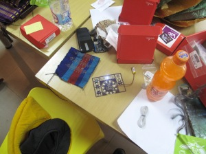 Components at the Light Up Your Gele Workshop