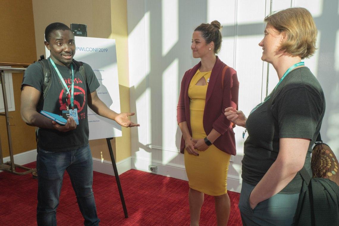 Simeon Adebola, Star Simpson, #pwlconf @starsandrobots @strangeloop_stl